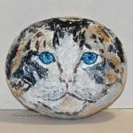 Cat Art on a Rock: Seeing Blue