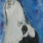 Grizzle Saluki Art Acrylic Painting