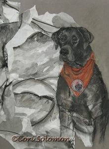Search and Rescue Black Labrador by Cori Solomon