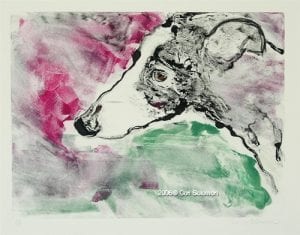 Greyhound Art by Cori Solomon