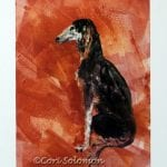 Saluki Art: Perfectly Posed by Cori Solomon