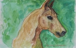 Quarter Horse Watercolor by Cori Solomon