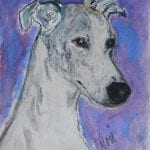 Whippet Watercolor by Cori Solomon