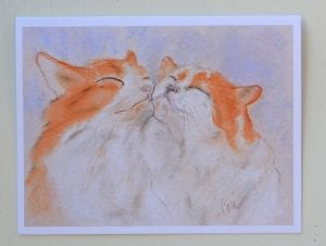 Two Orange Tabby Cats Note Cards by Cori Solomon