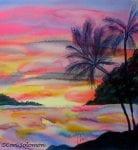 Sunset in Hawaii by Cori Solomon