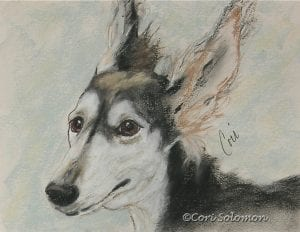 Grizzle Saluki Art