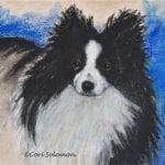 Pomeranian Art by Cori Solomon