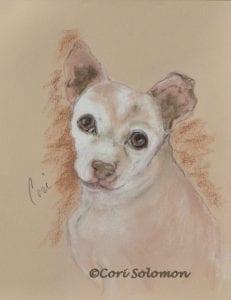 Piggly Pet Portrait by Cori Solomon