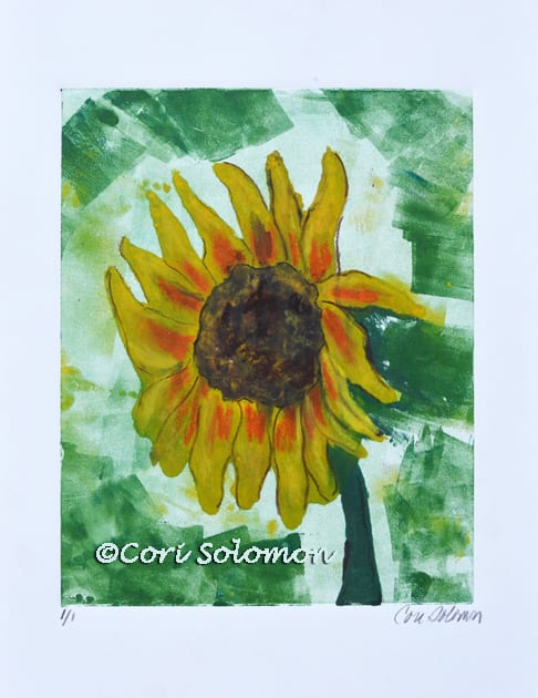 Sunflower Monotype by Cori Solomon