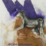 Grizzle Charm Saluki Art by Cori Solomon