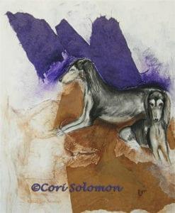 Grizzle Charm Saluki Art by Cori Solomon