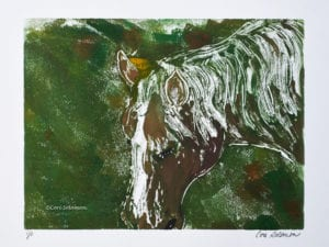 Horse Art Monotype by Cori Solomon