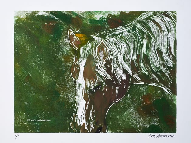 Horse Monotype by Cori Solomon