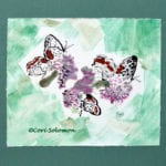 Butterflies and Flowers Art Monotype by Cori Solomon