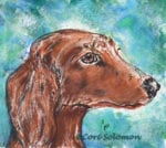 Dachshund Dog Monotype by Cori Solomon