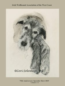 Irish Wolfhound Poster by Cori Solomon