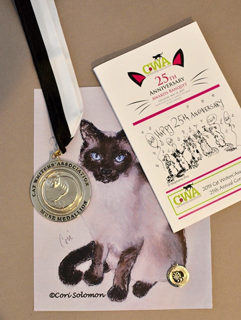 Cat Writters Association Fine Art Muse Winner